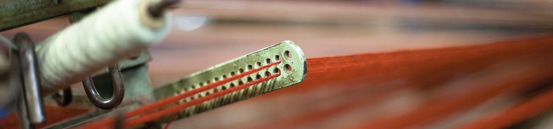Why choose Wilotn - Yarn on loom closeup