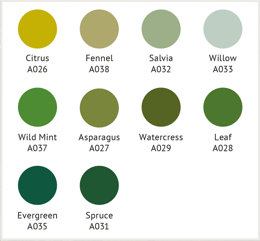 GW greens Design Folio Palette