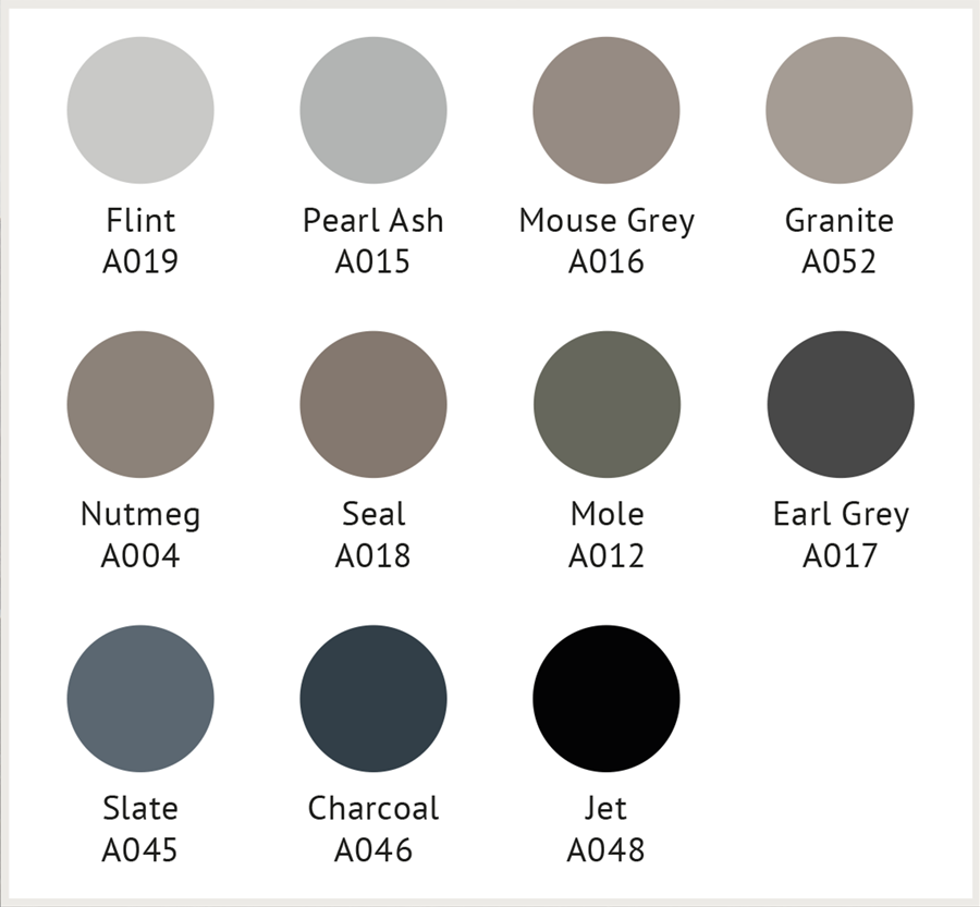 GW grey blacks Design Folio Palette